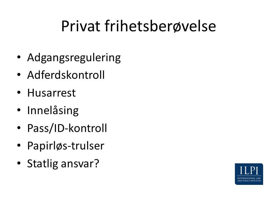 Privat frihetsberøvelse