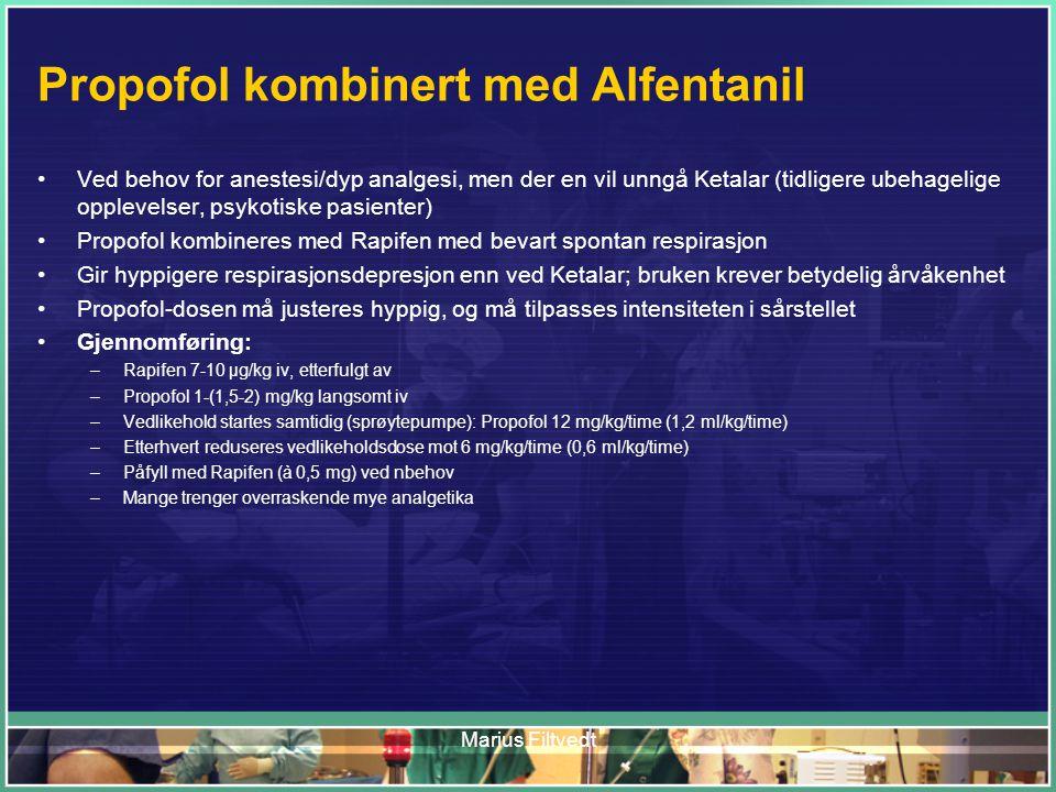 Propofol kombinert med Alfentanil