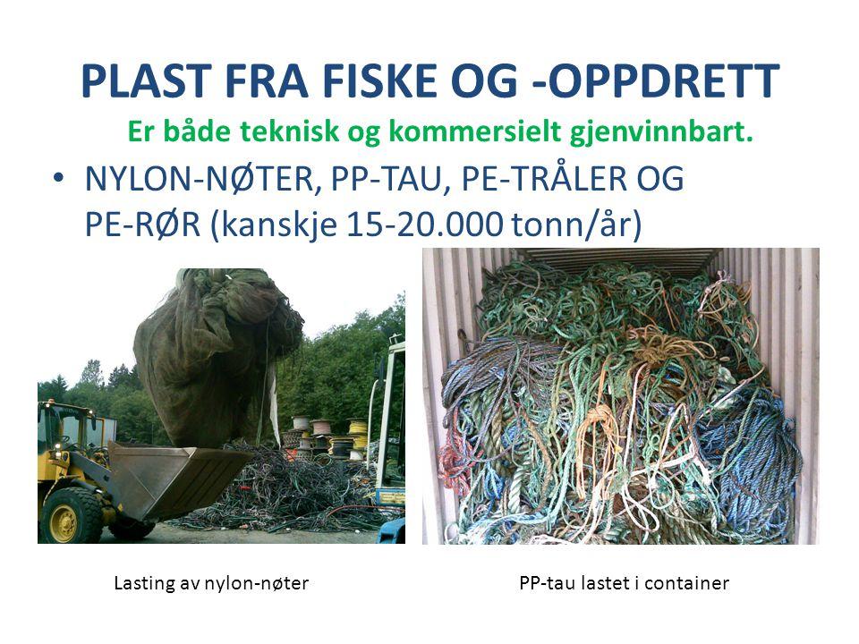 PLAST FRA FISKE OG -OPPDRETT