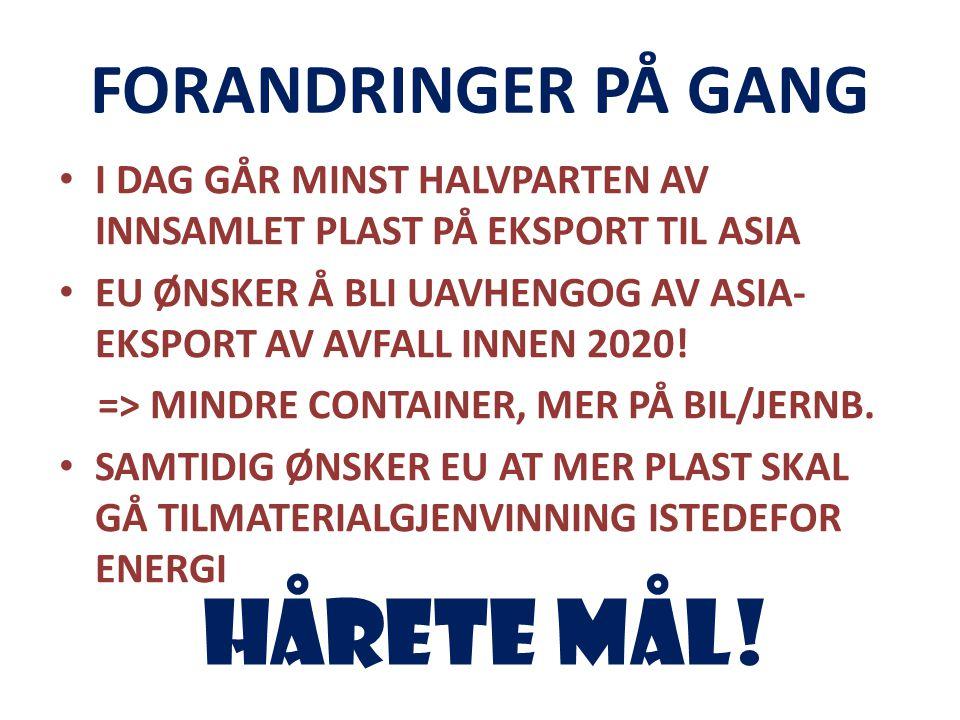 HÅRETE MÅL! FORANDRINGER PÅ GANG