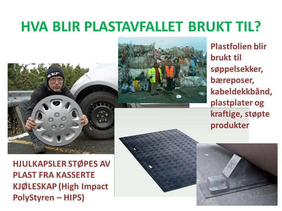HVA BLIR PLASTAVFALLET BRUKT TIL