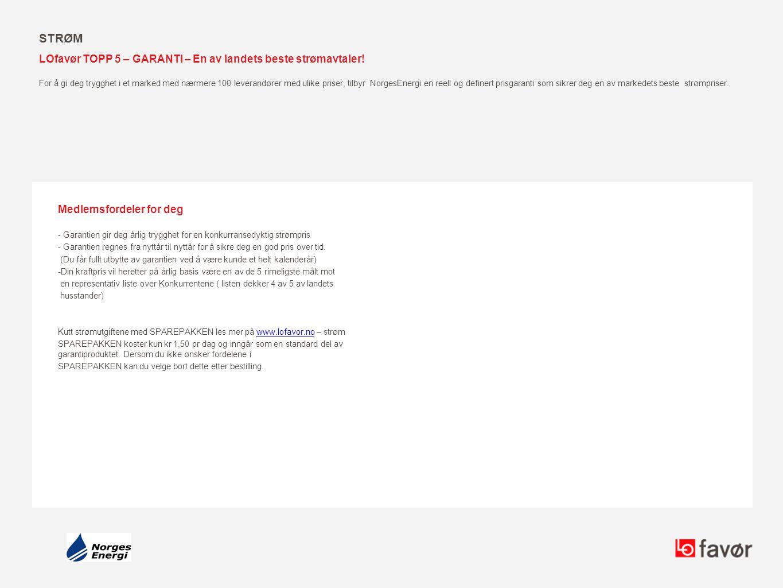 Strøm LOfavør TOPP 5 – GARANTI – En av landets beste strømavtaler!