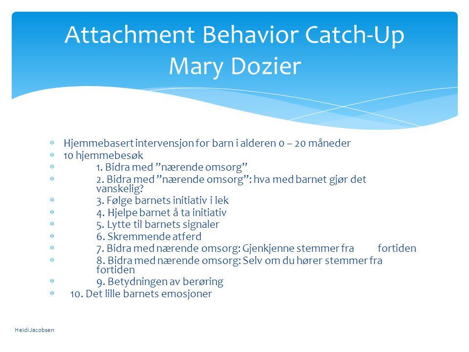 Attachment Behavior Catch-Up Mary Dozier