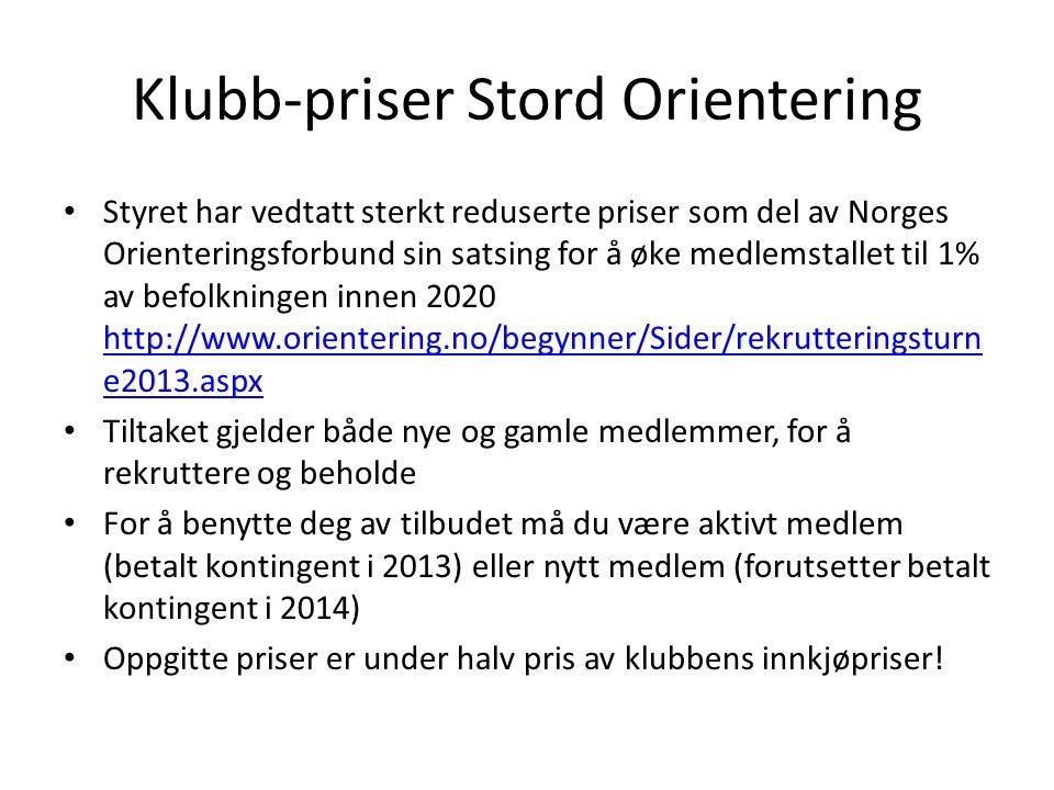 Klubb-priser Stord Orientering
