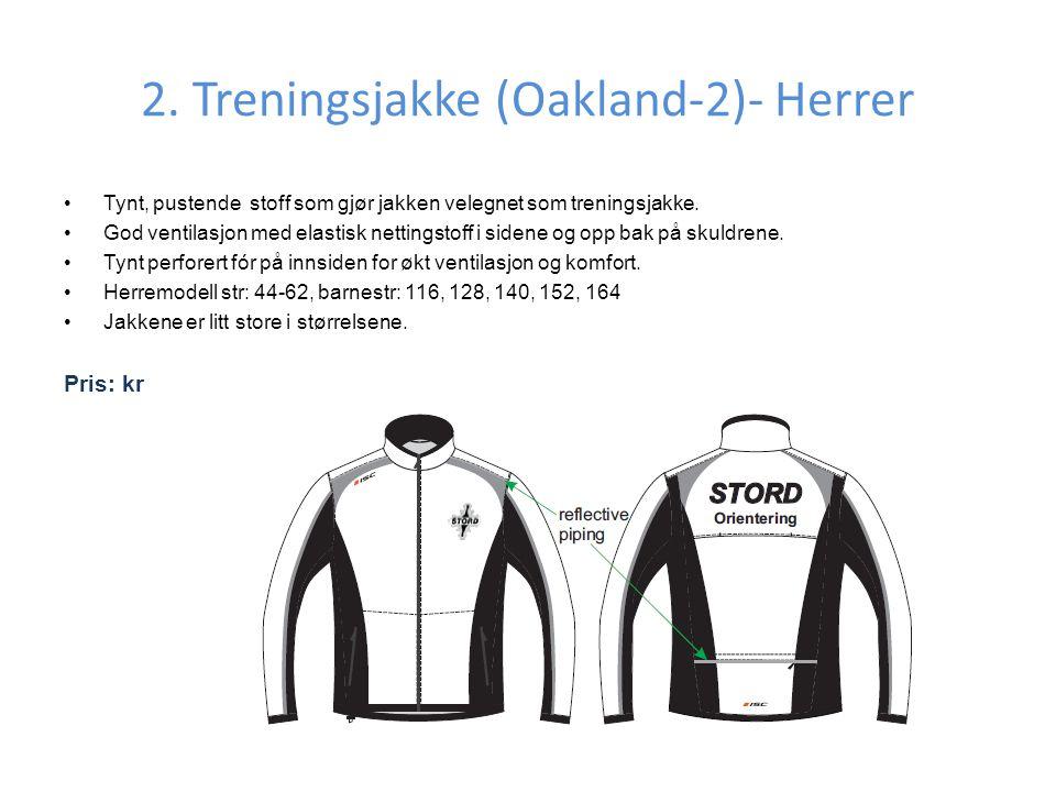 2. Treningsjakke (Oakland-2)- Herrer