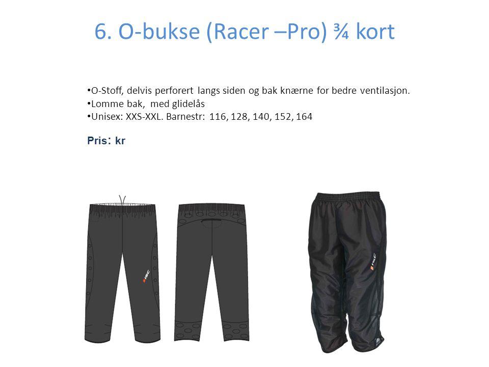 6. O-bukse (Racer –Pro) ¾ kort