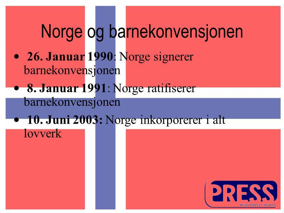Norge og barnekonvensjonen