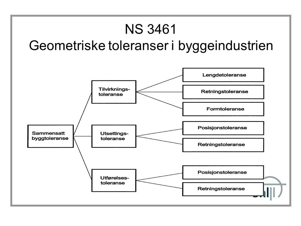 NS 3461 Geometriske toleranser i byggeindustrien