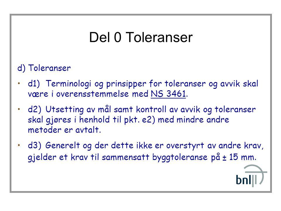 Del 0 Toleranser d) Toleranser