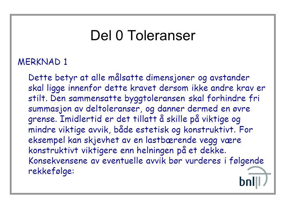 Del 0 Toleranser MERKNAD 1