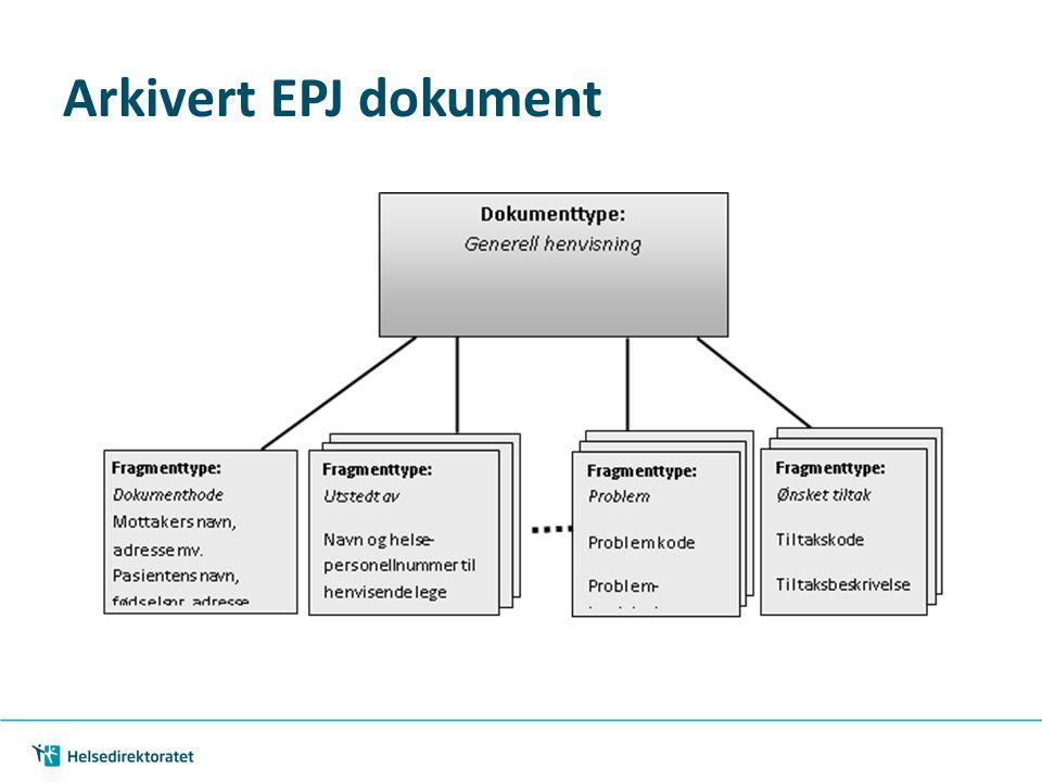 Arkivert EPJ dokument