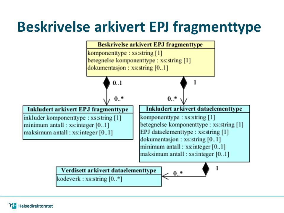 Beskrivelse arkivert EPJ fragmenttype