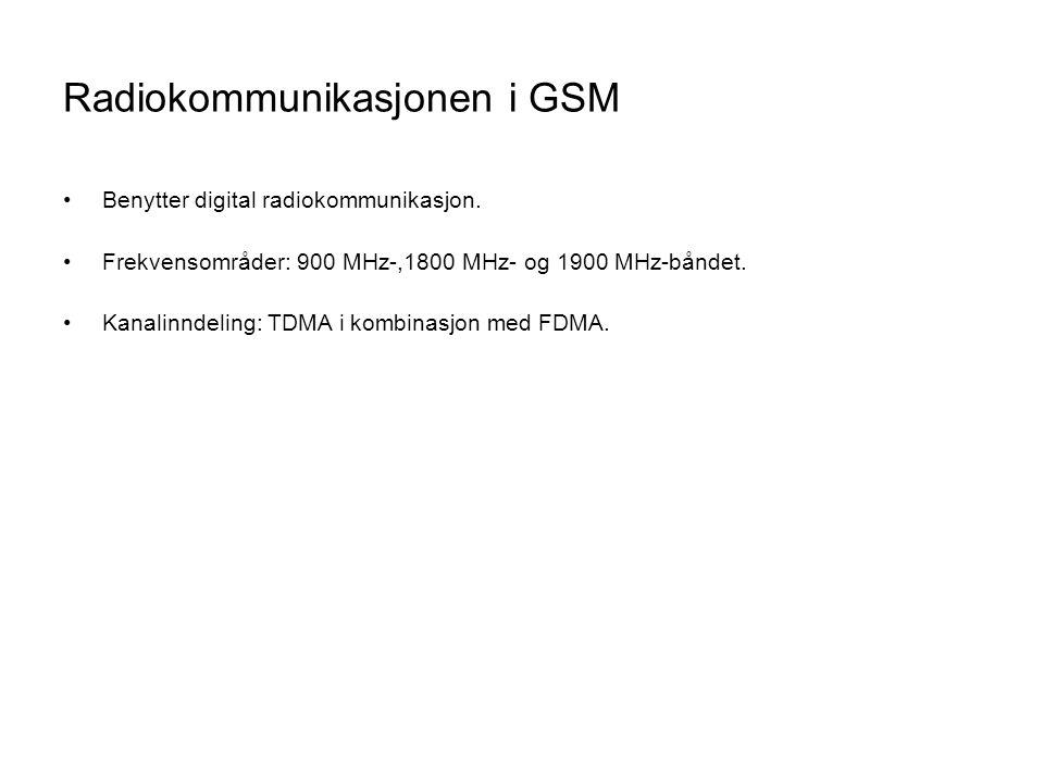 Radiokommunikasjonen i GSM