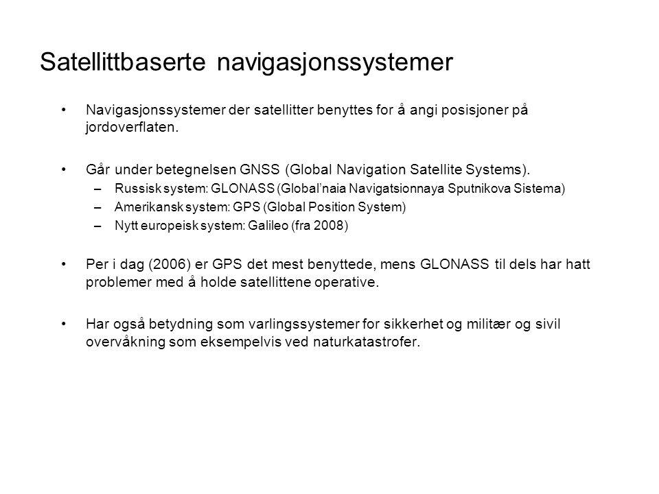 Satellittbaserte navigasjonssystemer