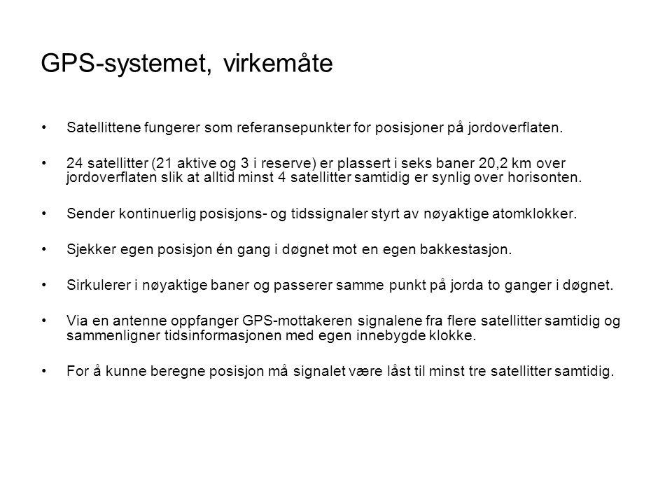GPS-systemet, virkemåte