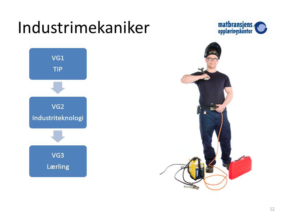Industrimekaniker TIP VG1 Industriteknologi VG2 Lærling VG3