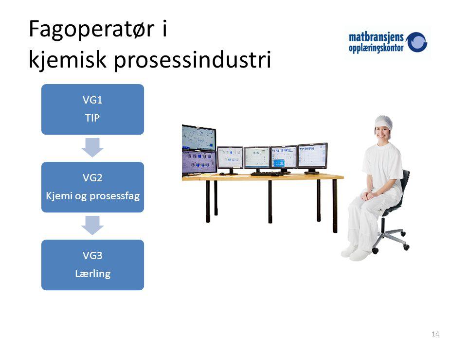 Fagoperatør i kjemisk prosessindustri