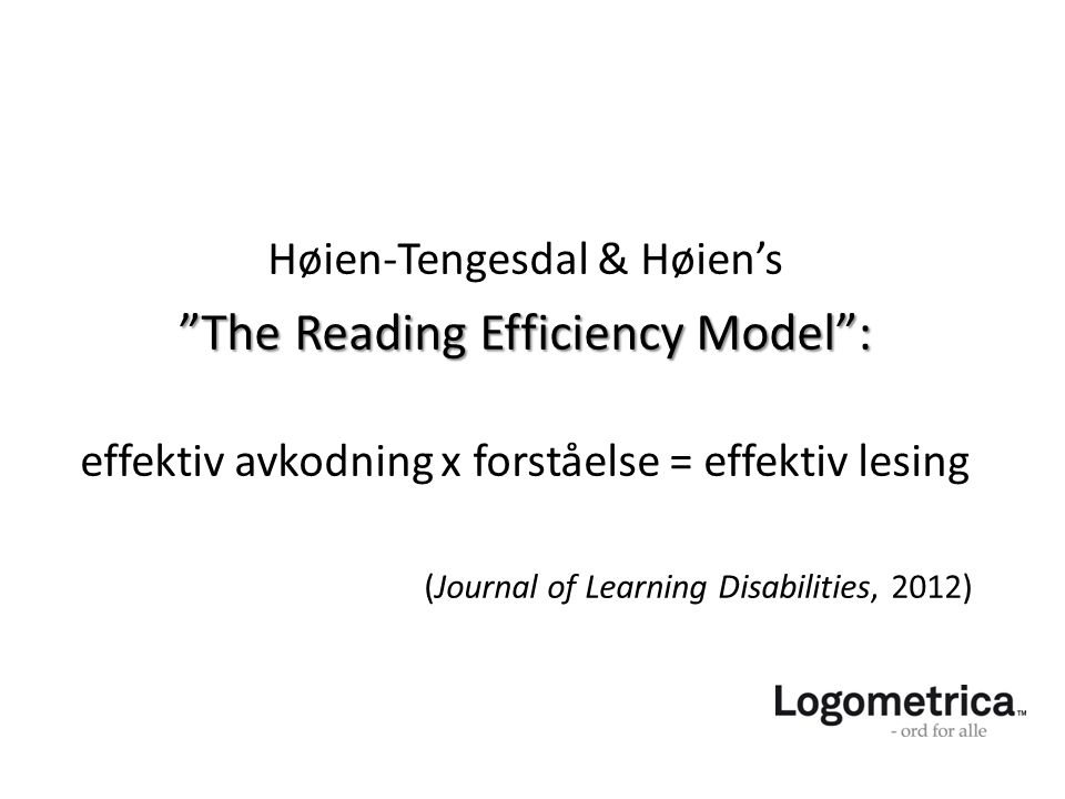 The Reading Efficiency Model :