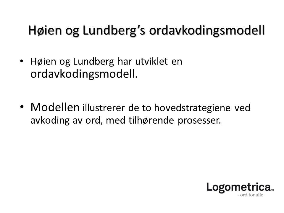 Høien og Lundberg's ordavkodingsmodell
