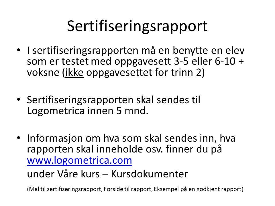 Sertifiseringsrapport