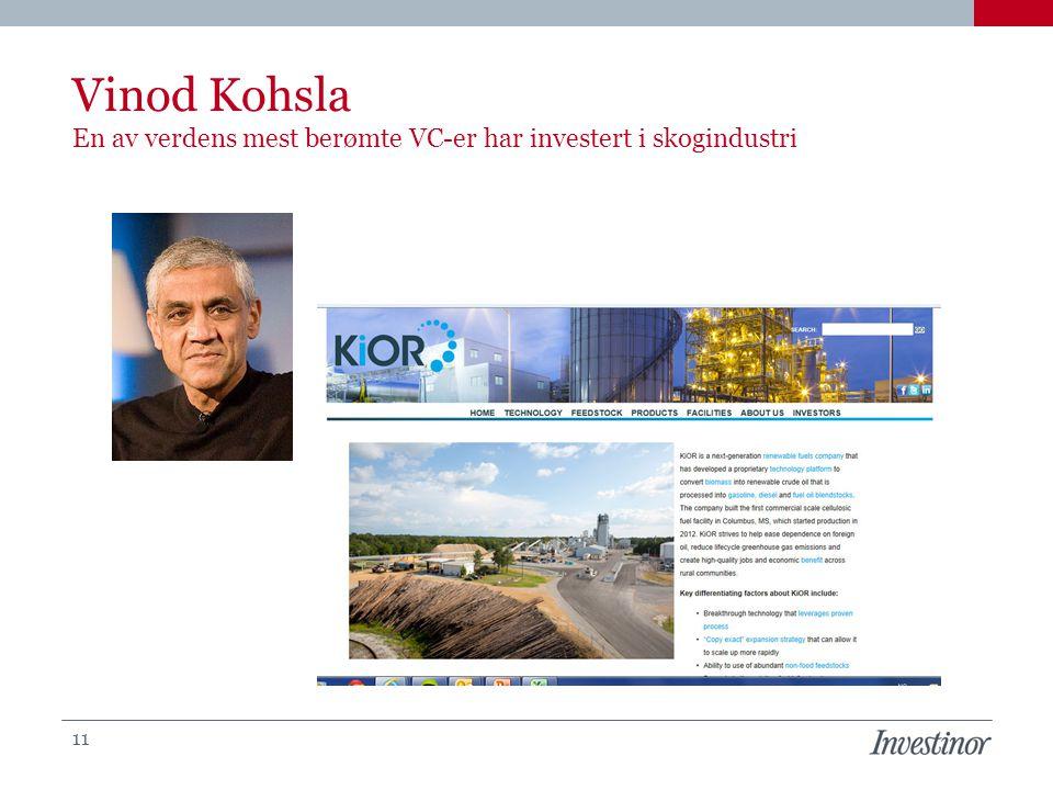 Vinod Kohsla En av verdens mest berømte VC-er har investert i skogindustri