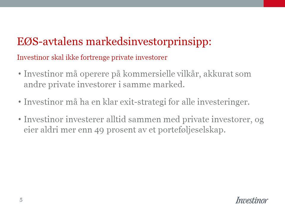 EØS-avtalens markedsinvestorprinsipp: Investinor skal ikke fortrenge private investorer