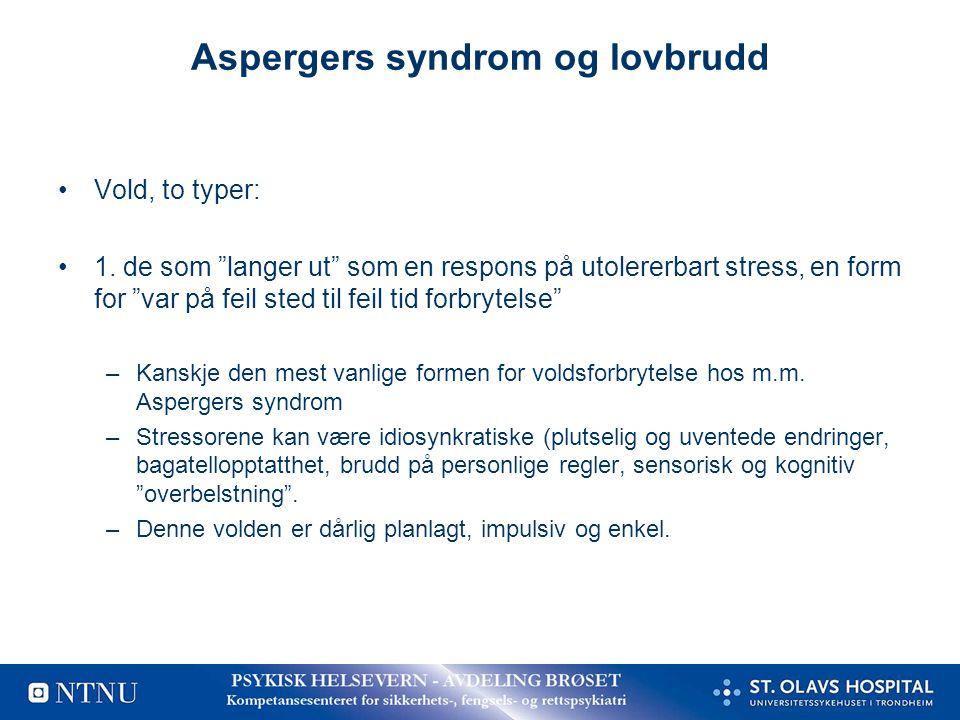 Aspergers syndrom og lovbrudd