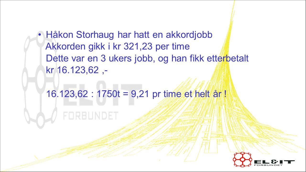 Håkon Storhaug har hatt en akkordjobb