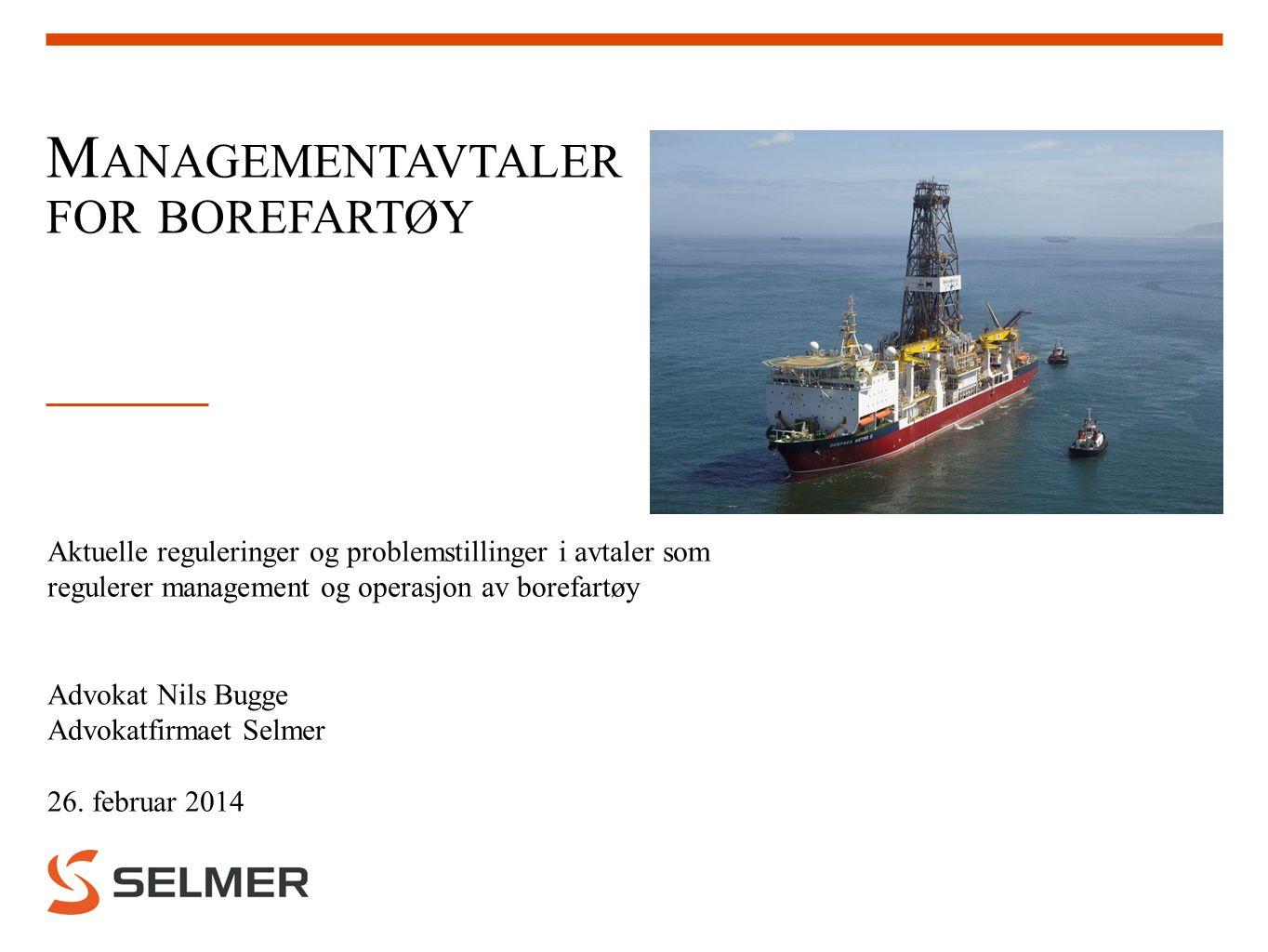 Managementavtaler for borefartøy