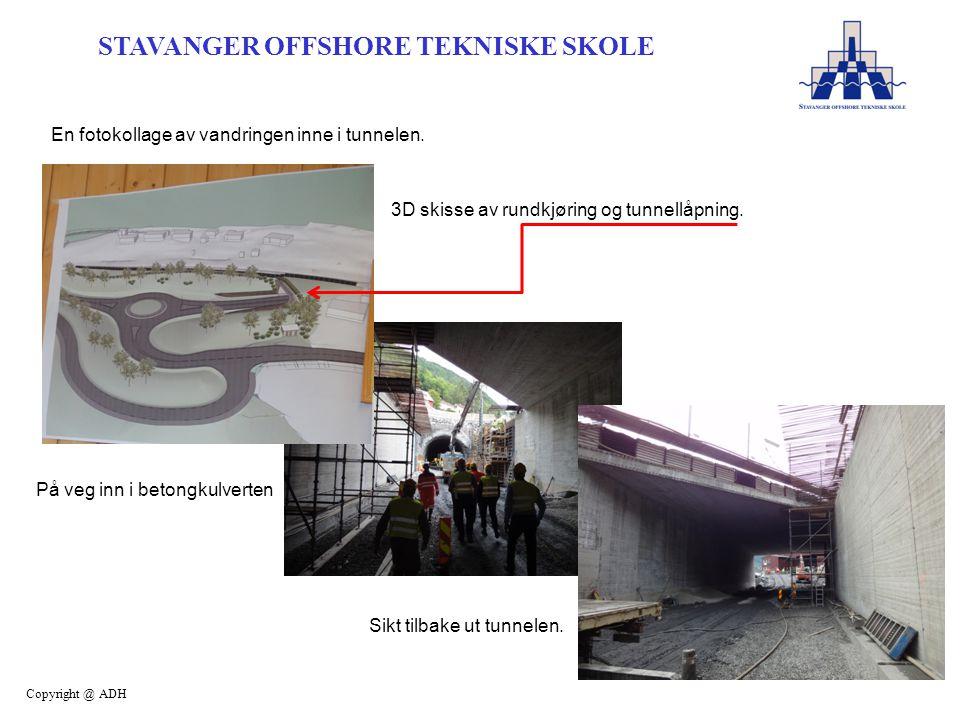 En fotokollage av vandringen inne i tunnelen.