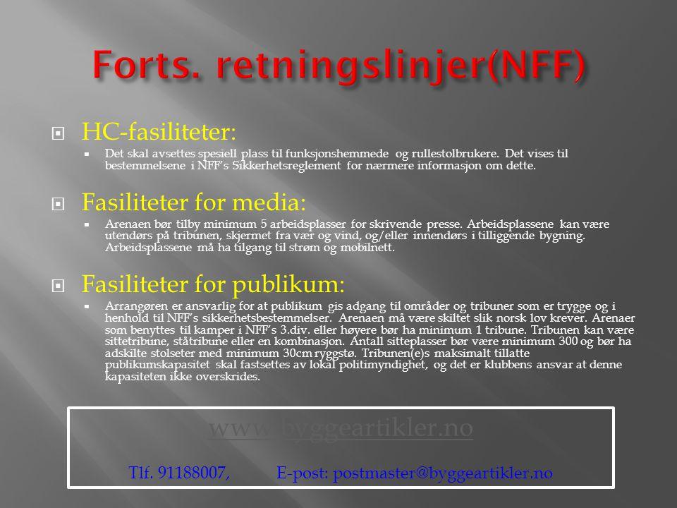 Forts. retningslinjer(NFF)
