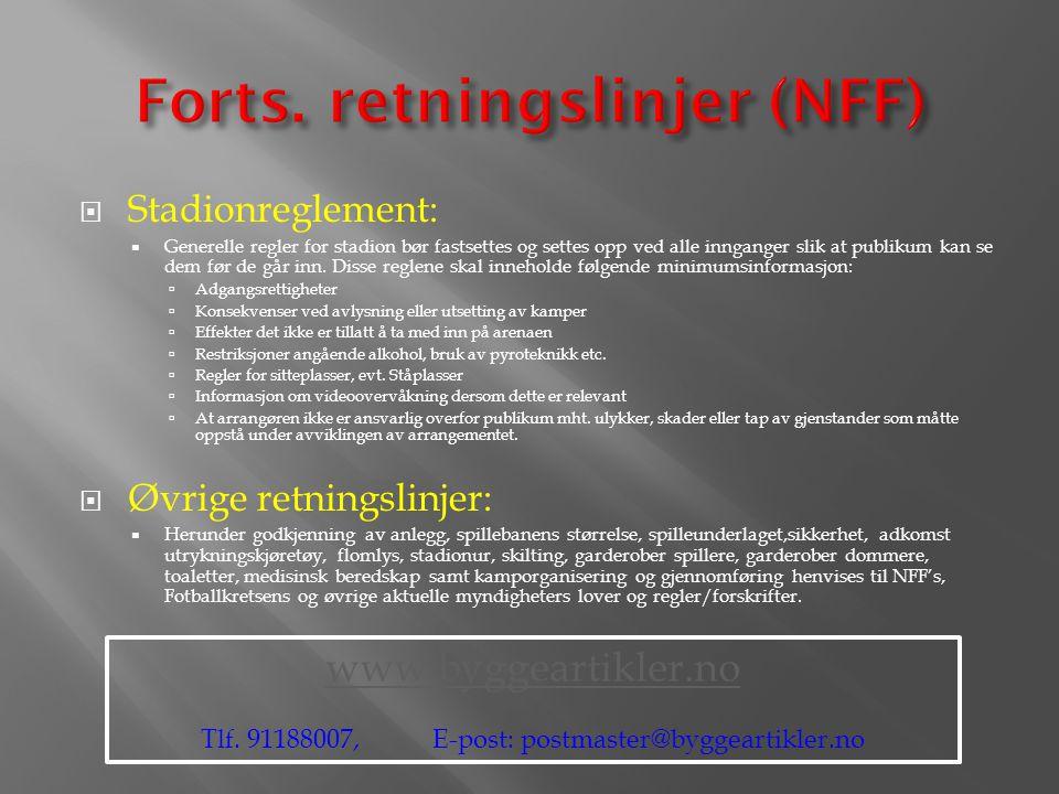 Forts. retningslinjer (NFF)