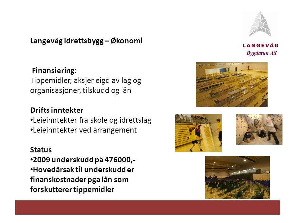 Langevåg Idrettsbygg – Økonomi