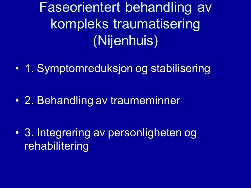 Faseorientert behandling av kompleks traumatisering (Nijenhuis)