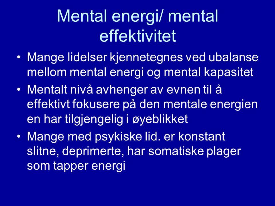 Mental energi/ mental effektivitet