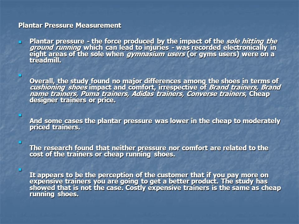Plantar Pressure Measurement
