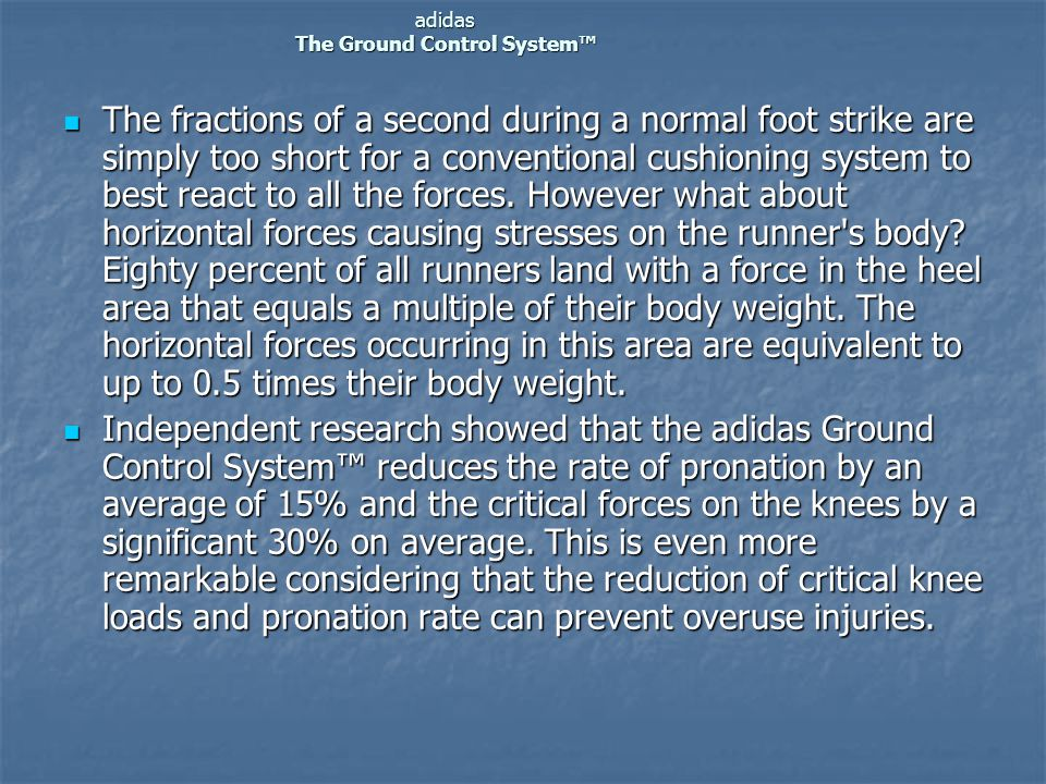 adidas The Ground Control System™