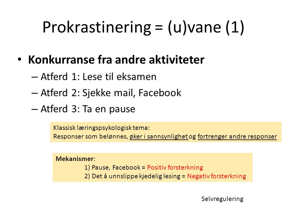 Prokrastinering = (u)vane (1)