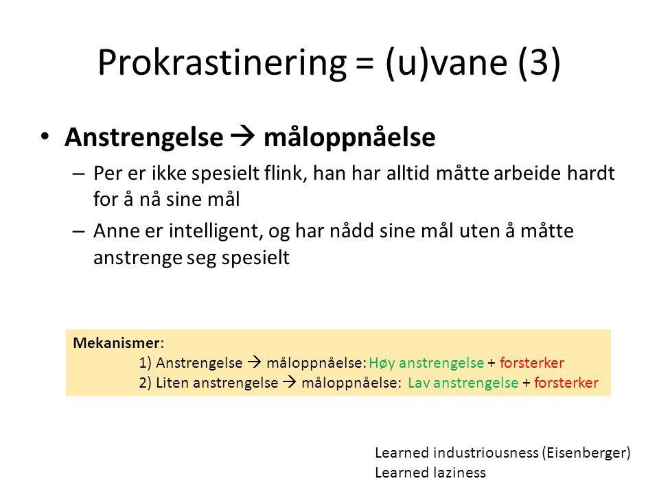 Prokrastinering = (u)vane (3)