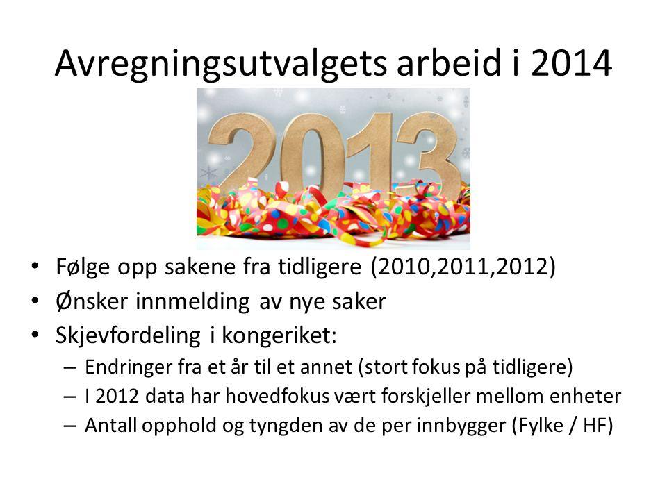Avregningsutvalgets arbeid i 2014