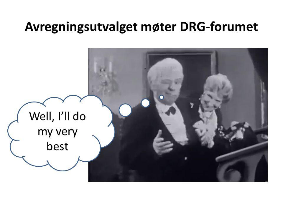 Avregningsutvalget møter DRG-forumet