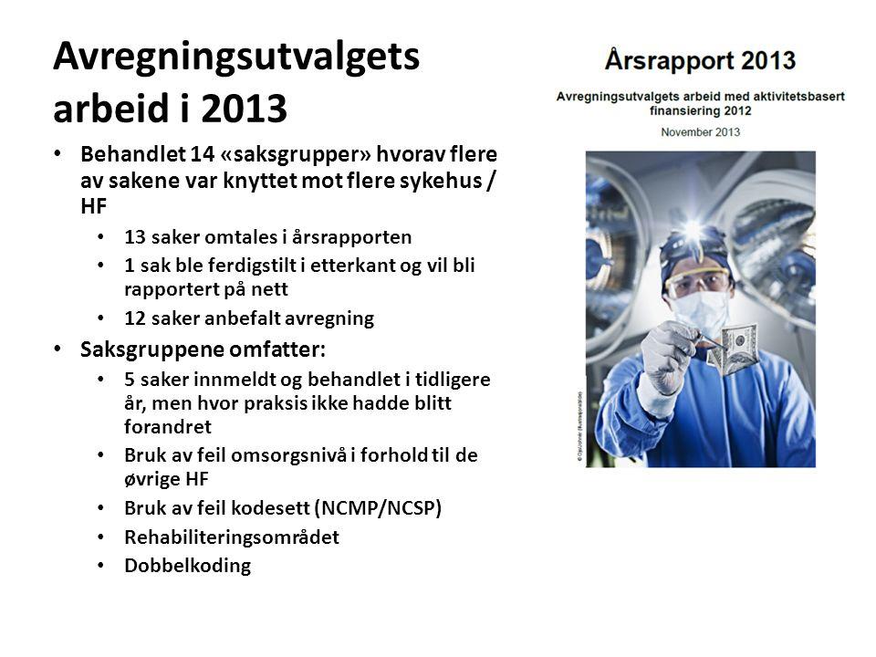 Avregningsutvalgets arbeid i 2013