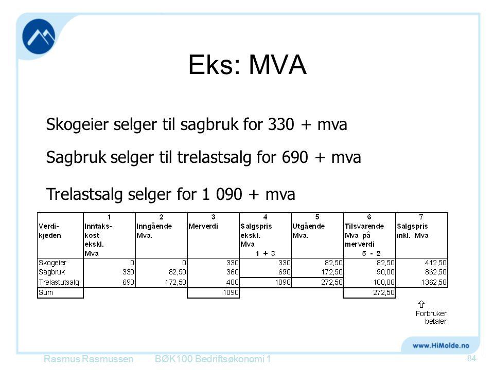 Eks: MVA Skogeier selger til sagbruk for 330 + mva