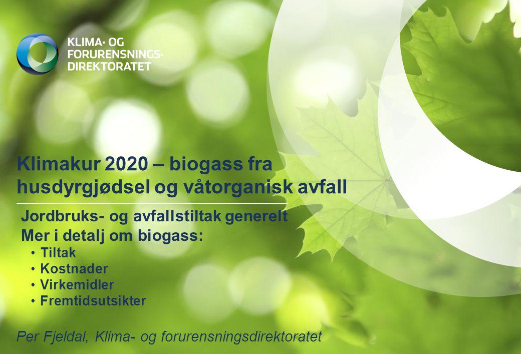 Klimakur 2020 – biogass fra husdyrgjødsel og våtorganisk avfall