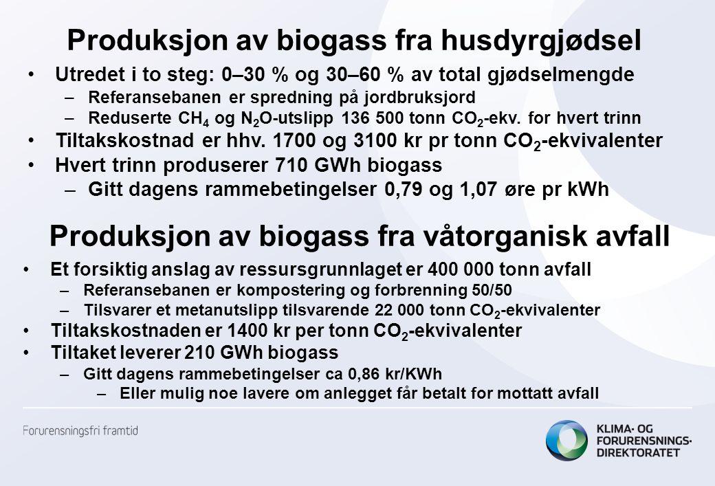 Produksjon av biogass fra husdyrgjødsel