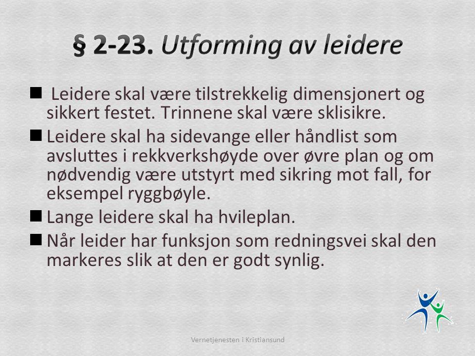 § 2-23. Utforming av leidere