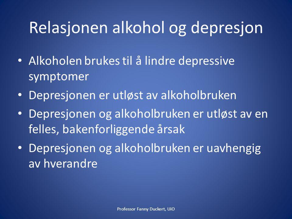 Relasjonen alkohol og depresjon