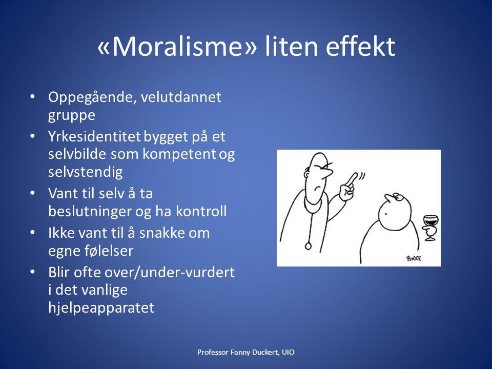 «Moralisme» liten effekt
