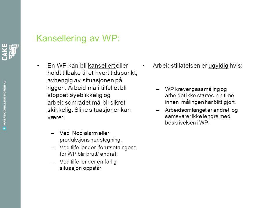 Kansellering av WP: