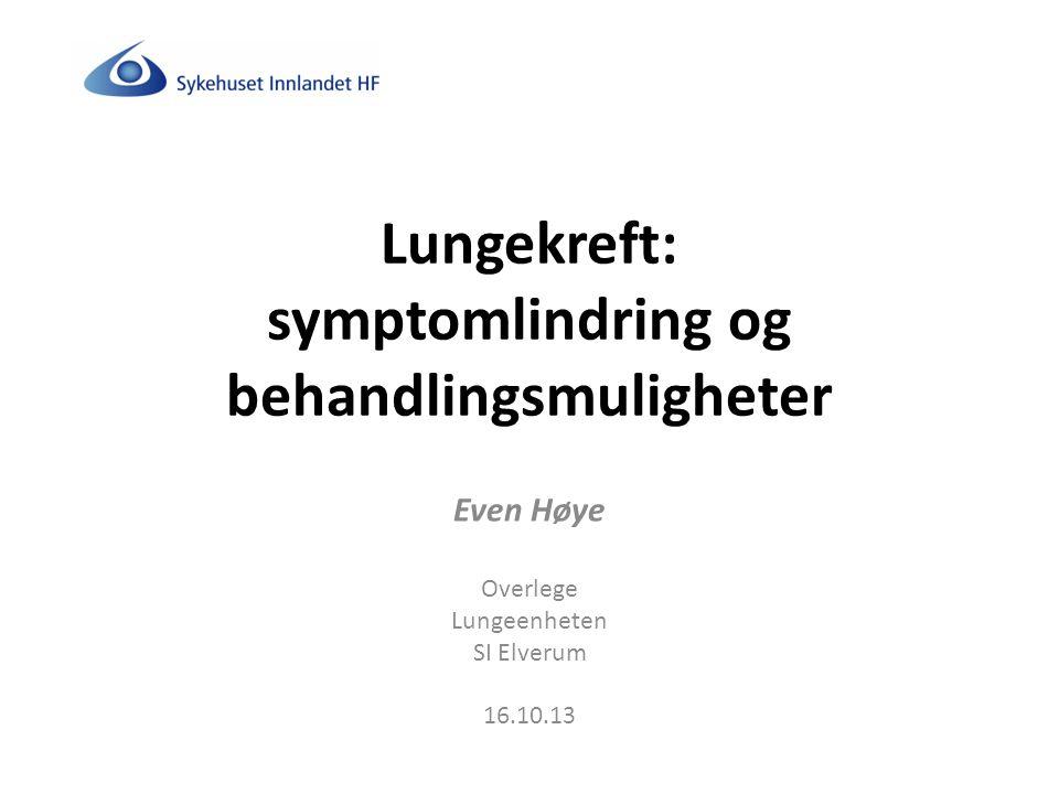 Lungekreft: symptomlindring og behandlingsmuligheter